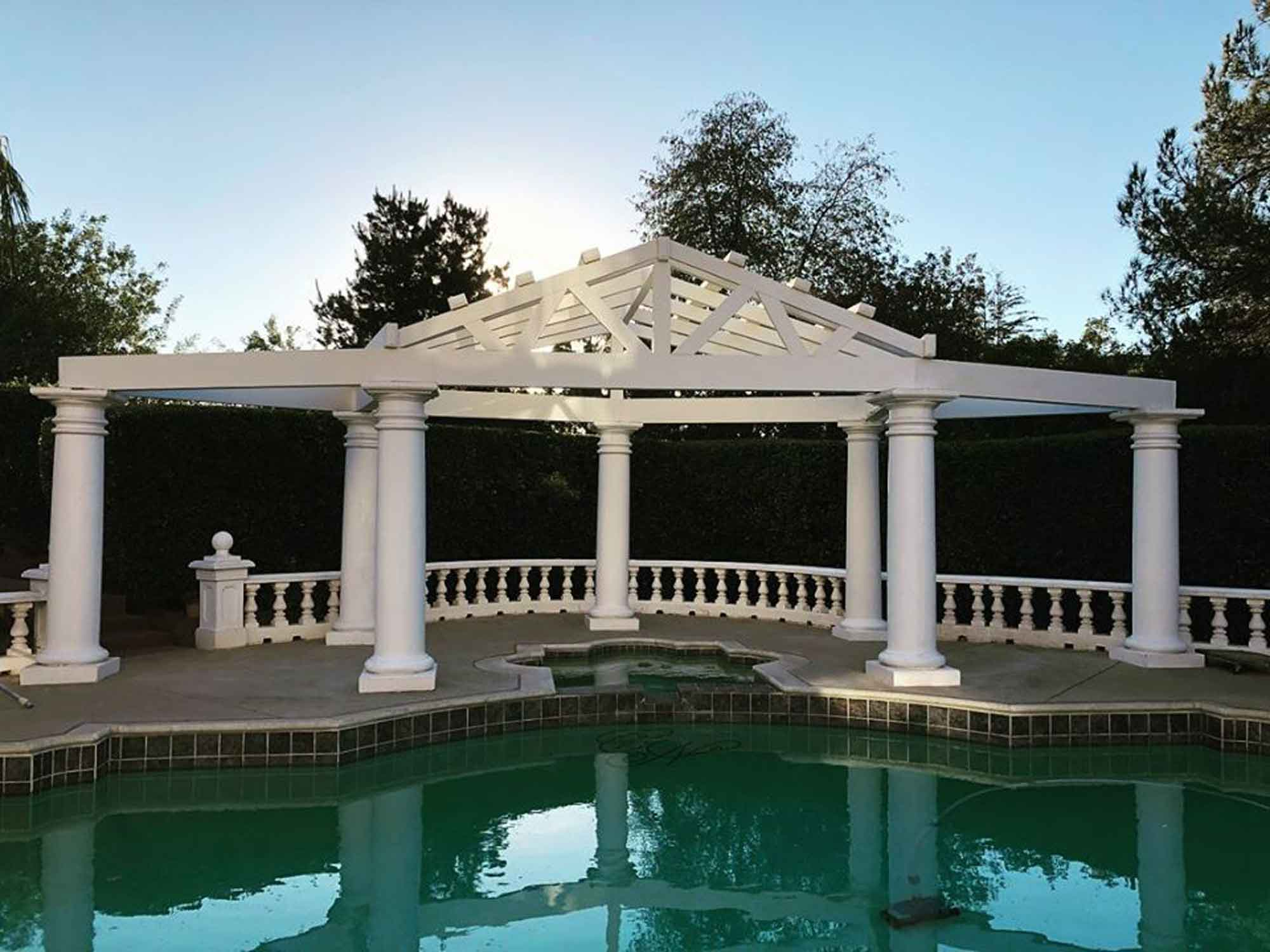 Pool White Structure