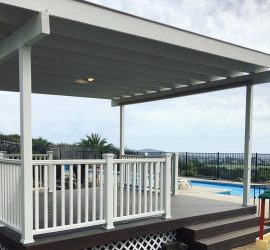 White Deck With Pool