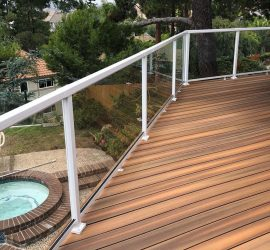 Wood White Deck